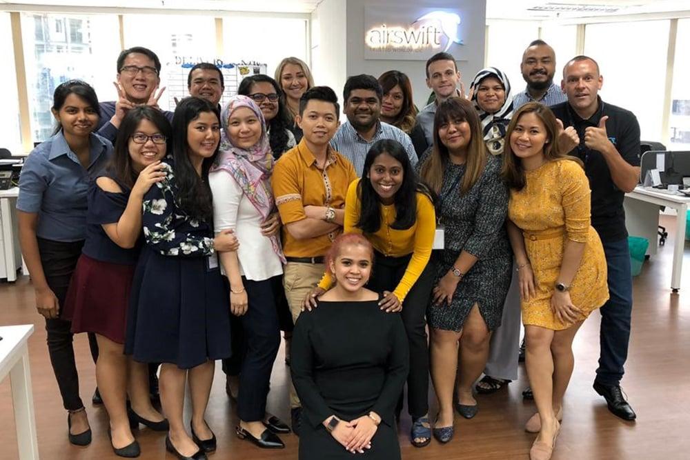 Airswift Malaysia team in the Kuala Lumpur office