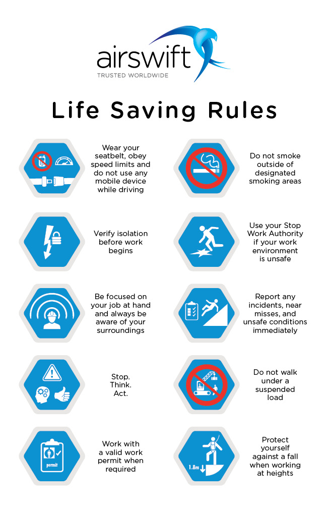 Airswift Life Saving Rules