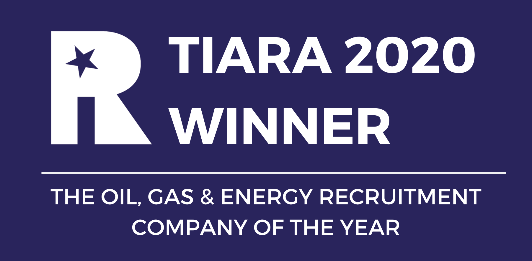 Airswift winners of Oil, Gas & Energy Recruitment Company of the Year - TIARA awards - Middle East