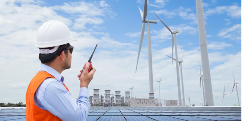 Renewable energy worker