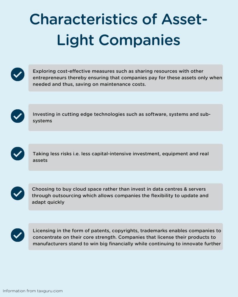 characteristics of asset-light companies
