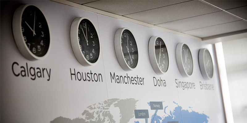 Airswift Office Featured - clocks