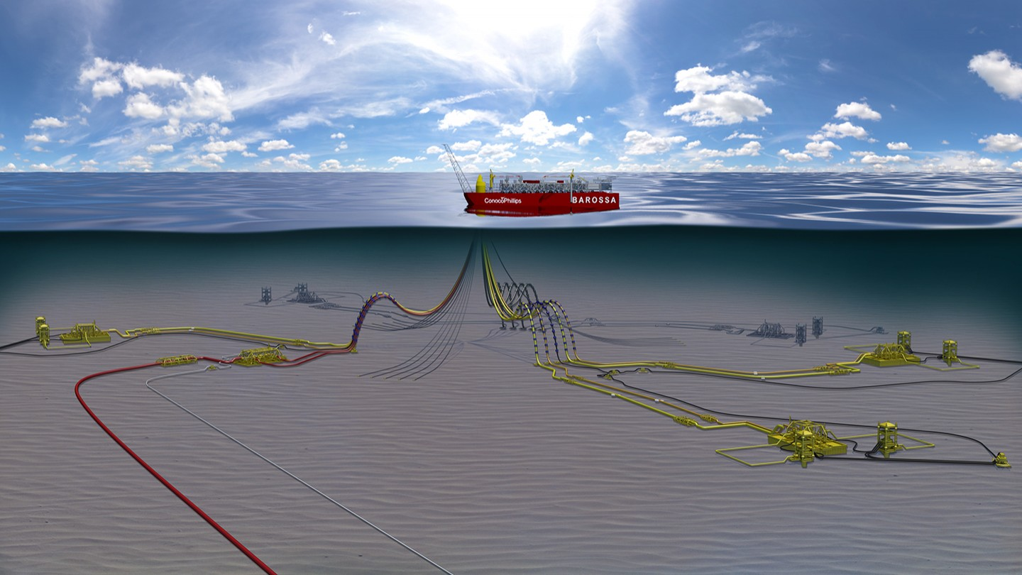 Artist depiction of the Barossa FPSO - Airswift are hiring for engineering roles on the project